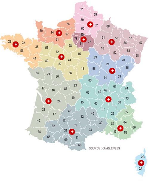 La carte secrète du redécoupage des régions
